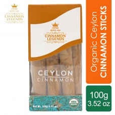 Organic Ceylon Cinnamon Sticks 100 grams / 3.52 oz