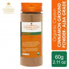 Organic Ceylon Cinnamon Ground Powder - Alba Grade 60 grams / 2.11 oz