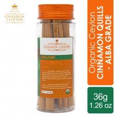 Organic Ceylon Cinnamon Quills – Alba Grade 36 grams / 1.26 oz