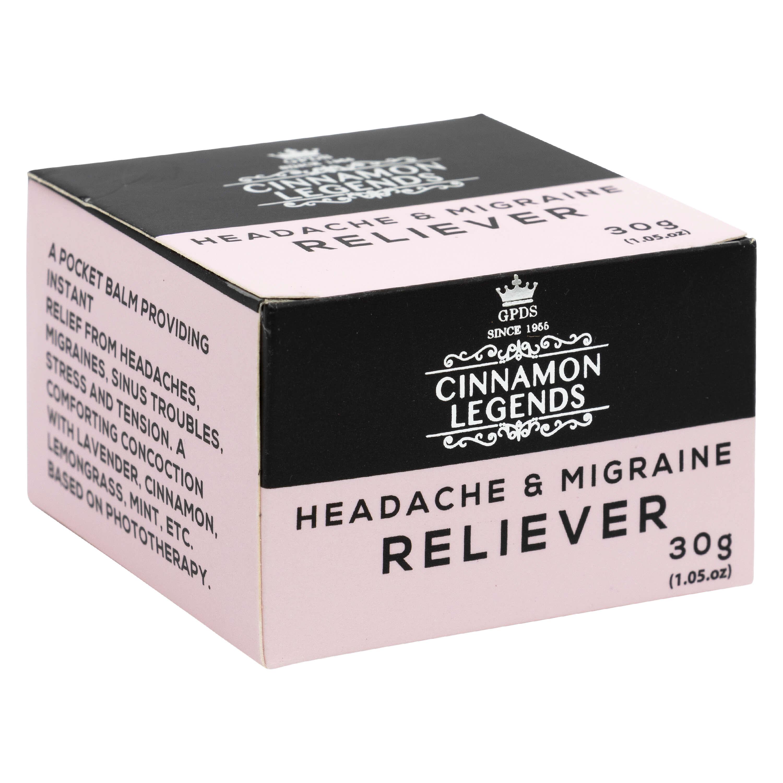 Cinnamon Migrain Balm 30 grams / 1.1 oz | Pain Relief Balm ...